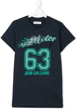 John Galliano TEEN studded logo print T-shirt