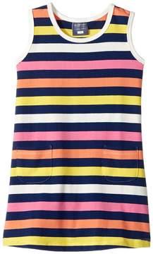 Toobydoo Santa Monica Stripe Dress (Infant/Toddler)