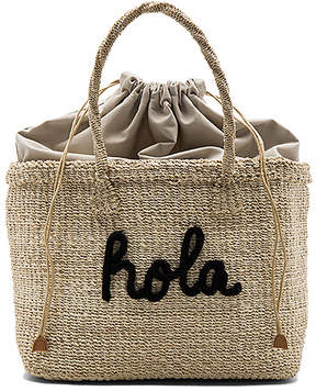 KAYU x REVOLVE Hola Tote Bag in Black.