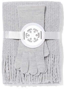 New York & Co. 2-Piece Honeycomb Scarf & Gloves Set