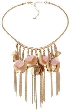 Danielle Nicole Azalea Freeform Pink Stone Goldtone Fringe Drop 16 Necklace