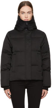 Kenzo Black Down Funnel Collar Puffer Jacket