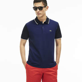 Lacoste Men's Slim Fit Contrast Sleeves Stretch Piqu Polo Shirt