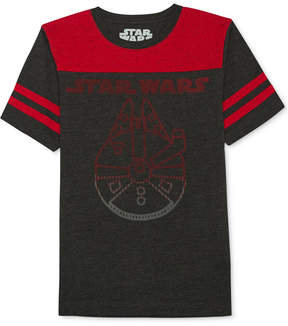 Star Wars Millennium Falcon-Print T-Shirt, Big Boys (8-20)