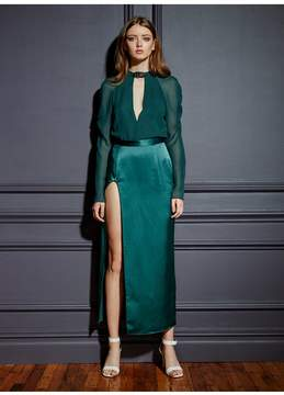 Fleur Du Mal | Blouse With Rouched Sleeves | M | Green