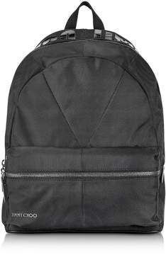 Jimmy Choo Reed Jic Black Canvas And Woven Nylon Backpack