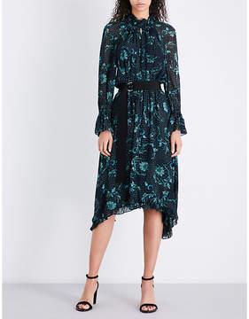 Claudie Pierlot High neck paisley-print chiffon midi dress
