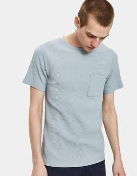 Saturdays NYC Randall Links Tee in Stone Blue