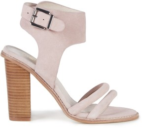 Sole Society Tiki Heel Embellished Buckle Sandal
