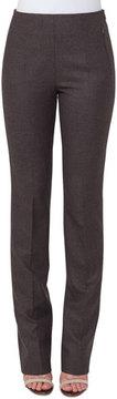 Akris Constance Flannel Stretch Wool Slim Pants