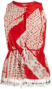 Altuzarra Bourse Bandana-print sleeveless top
