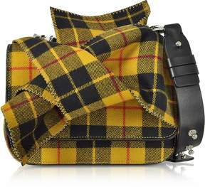 N°21 Tartan Wool Bow Mini Shoulder Bag