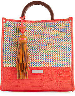 Sam Edelman Marian Straw Satchel Bag