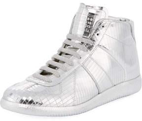 Maison Margiela Men's Disco Replica Mid High-Top Sneakers