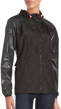 Betsey Johnson Hooded Ruffle Jacket