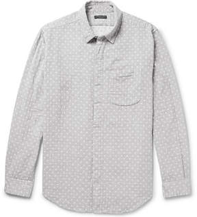 Engineered Garments Polka-Dot Double-Faced Cotton-Gauze Shirt