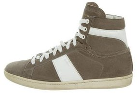 Saint Laurent SL/02H Wolly High-Top Sneakers