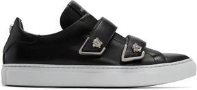 Versace Black Double Strap Medusa Sneakers