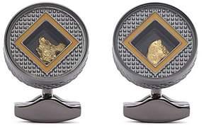 Tateossian Gold nugget cufflinks