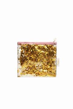 Toss Gold Confetti Pouch