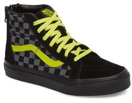 Vans Boy's Reflective Checkerboard Sk8-Hi Zip Sneaker