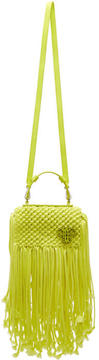 Emilio Pucci Yellow Fringed Logo Bag