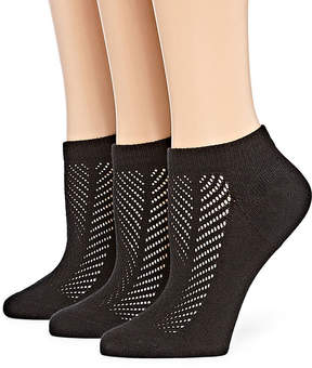 Asstd National Brand Berkshire 3 Pair Non Binding Sporty Low Cut Socks - Womens