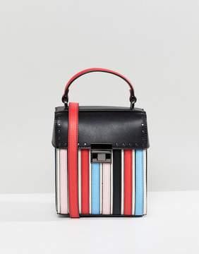 Asos DESIGN Striped Lid Top Cross Body Bag