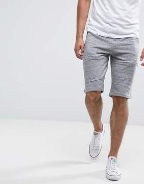 New Look Jersey Shorts In Gray Marl