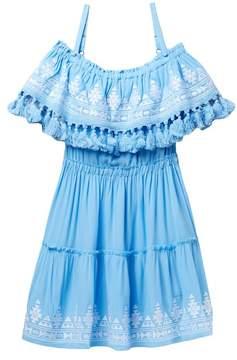 Vintage Havana Off-the-Shoulder Mini Dress (Big Girls)