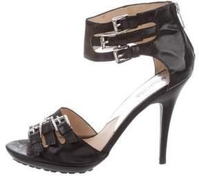 MICHAEL Michael Kors Leather Buckle Sandals