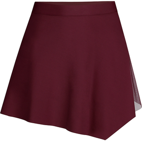 Capezio Burgundy Asymmetrical Skirt - Girls