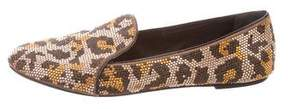Brian Atwood Embellished Round-Toe Loafers
