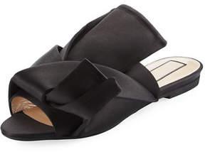 No.21 No. 21 Pleated Flat Satin Slide Sandal