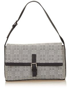 Burberry Pre-owned: Plaid Jacquard Shoulder Bag. - GRAY X BLACK - STYLE