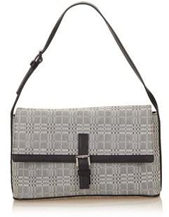 Burberry Pre-owned: Plaid Jacquard Shoulder Bag. - GRAY X BLACK - STYLE