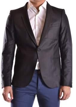 Selected Men's Grey Polyester Blazer.