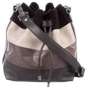 Proenza Schouler Snakeskin-Trimmed Crosby Bucket Bag