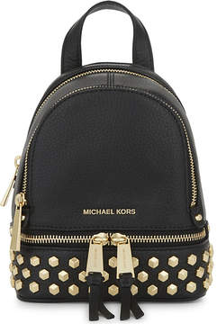 MICHAEL Michael Kors Rhea extra-small leather cross-body backpack - BLACK - STYLE