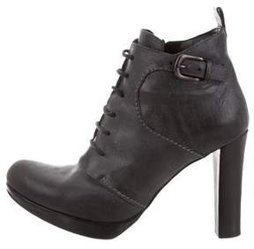 Henry Beguelin Leather Lace-Up Booties