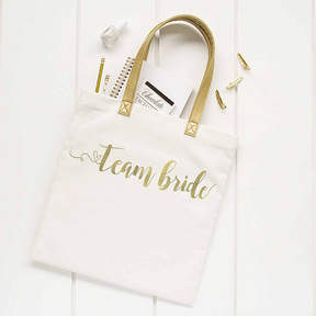 Cathy's Concepts CATHYS CONCEPTS Gold Foil Team Bride Canvas Tote