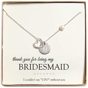 Cathy's Concepts Personalized Bridesmaid Necklace