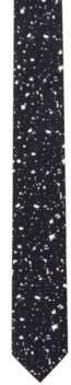 HUGO Boss Paint Splattered Italian Silk Slim Tie One Size Black
