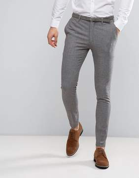Asos Wedding Super Skinny Suit Pants in Mini Check In Gray