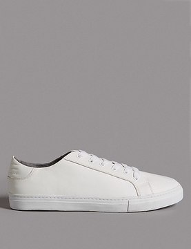 Marks and Spencer Leather Lace-up Trainers