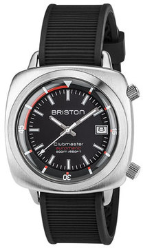 Briston Clubmaster Diver Automatic Watch, Black
