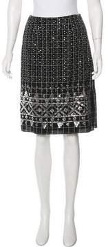 Anna Sui Embellished Knee-Length Skirt