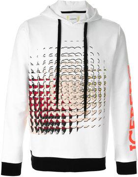 Iceberg drawstring Popeye shatter print hoodie