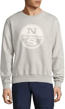 North Sails Men's Graphic Printed Fleece Pullover