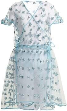 DAY Birger et Mikkelsen CECILIE BAHNSEN Aida floral-embellished sheer wrap dress